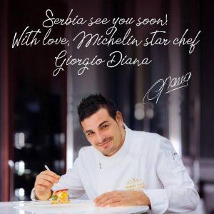 Michelin star chef Giorgio Diana<br> u Novom Sadu